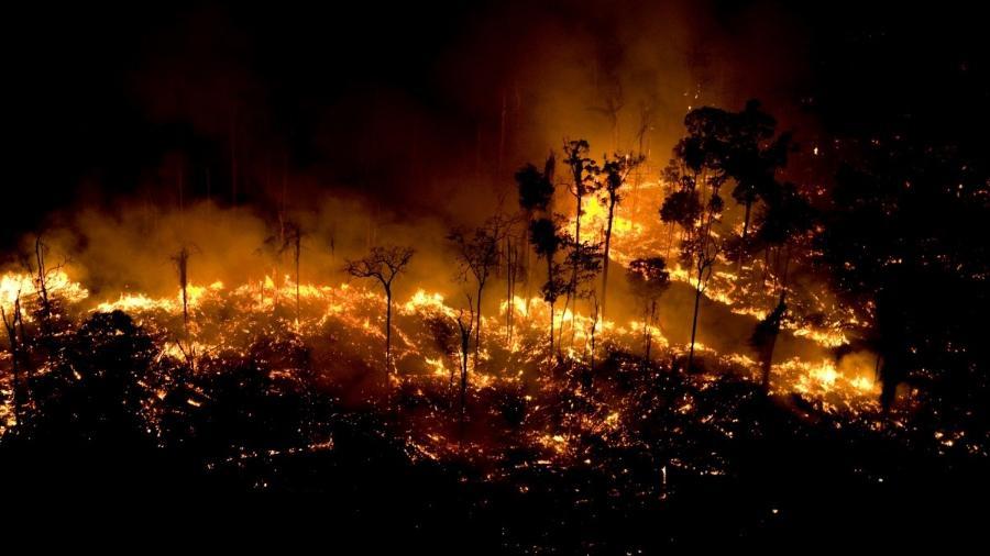 Bolsonaro levanta suspeita sobre ONGs por queimadas na Amazônia