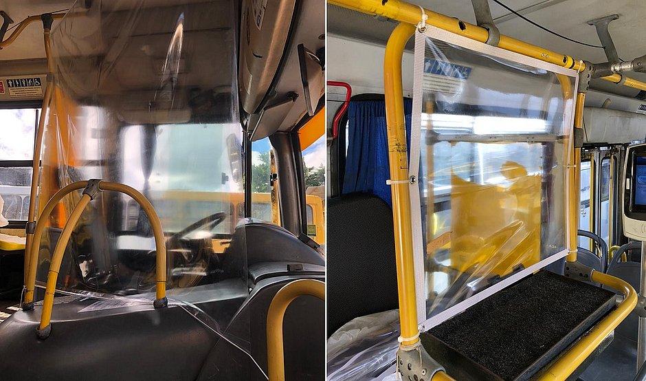 Ônibus de Salvador ganham proteções para motoristas e cobradores