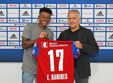 Bahia anuncia a prorrogação do empréstimo de Eric Ramires ao Basel por mais dois meses