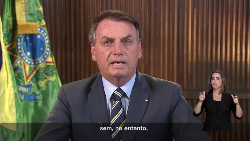 Pronunciamento do Presidente Jair Bolsonaro sobre a evolução do Coronavírus